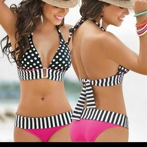 Other - Dots Halterneck 2 Piece Bikini.